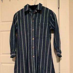 7 for all mankind midsleeve denim shirt dress
